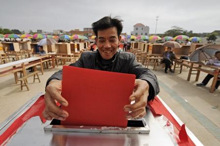 Das kleine Fischerdorf Wukan gilt als Vorbild für Demokratie in China. Foto: PETER PARKS/AFP/Getty Images