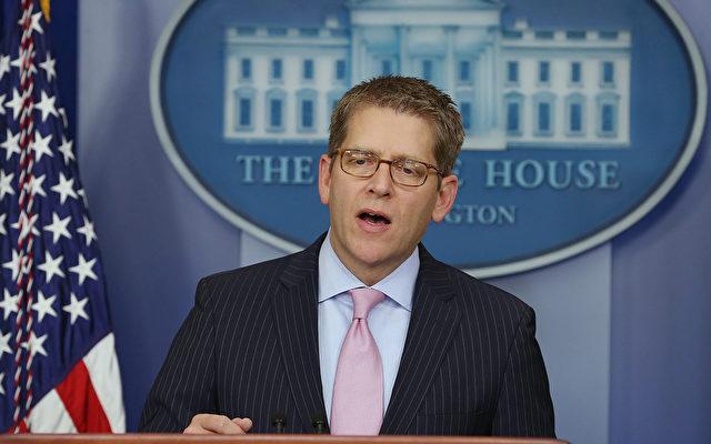 Jay Carney, ein Sprecher des Weißes Hauses in Washington.   Foto: Mark Wilson/Getty Images
