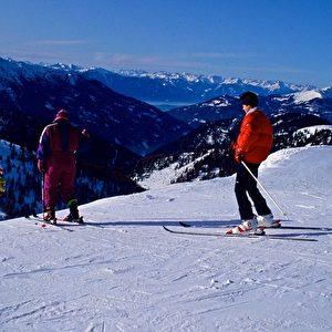 Skiabfahrt von den Nockbergen bei Bad Kleinkkirchheim in Kärnten. Foto: Elke Backert