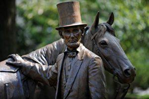 Abraham Lincoln, 1809-1865, 16. amerikanischer Präsident. Lebensgroße Statue.