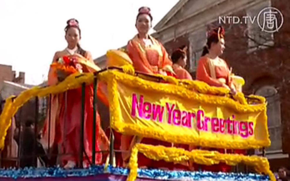 NTD bei Parade zum chinesischen Neujahr in Flushing, NYC