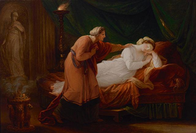Angelica Kauffmann (1741–1807), Penelope wird von Eurycleia erweckt, 1772. Foto: Markus Tretter