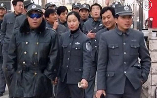 Die Sicherheitskräfte in China. Foto: NTDTV