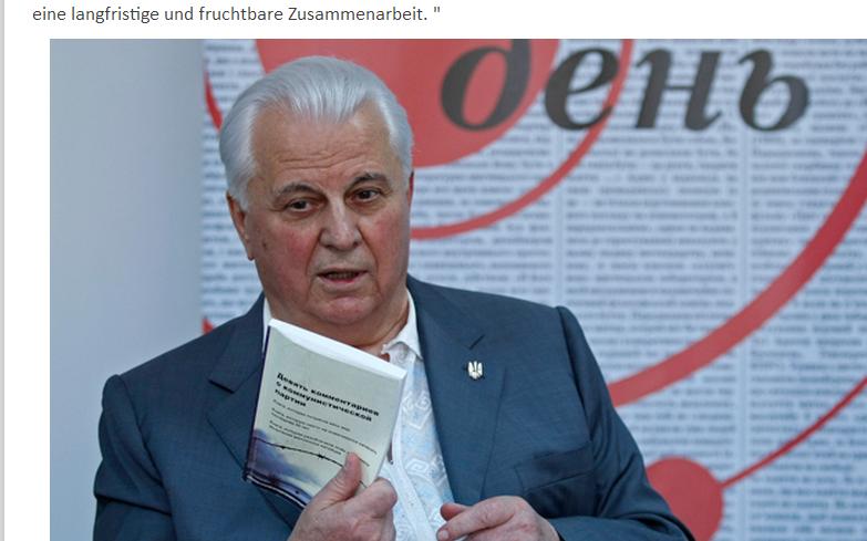 """Ukraine: Leonid Krawtschuk liest Epoch Times """"Neun Kommentare über die Kommunistische Partei"""""""
