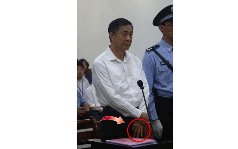 Das sind die Geheimbotschaften auf den Prozessfotos von Bo Xilai
