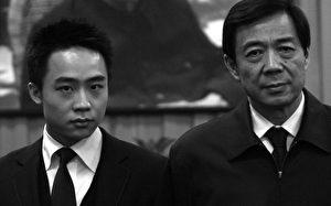 Bo Xilai (r.) und sein Sohn Bo Guagua im Jahr 2007.
