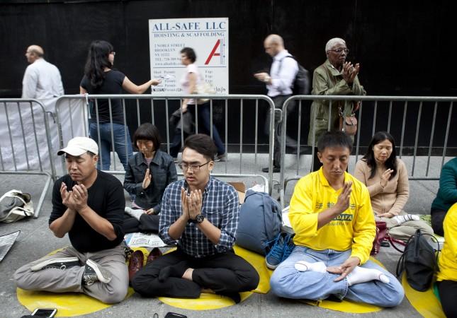 Chinas Xi in New York: Menschenrechtler grüßen mit Protest