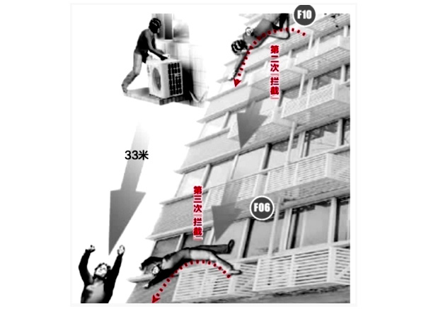 China: 100 Kilo-Mann überlebt Sturz aus dem 17. Stock