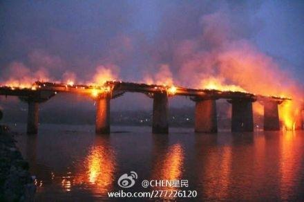 Chinas schönste antike Holzbrücke abgebrannt