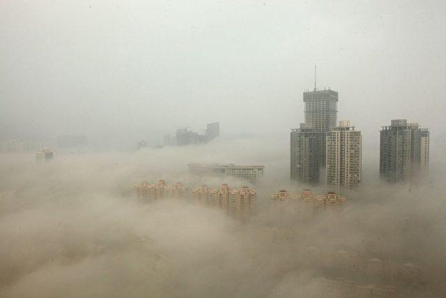 Lianyungang, Hafenstadt am Gelben Meer im Nordosten der chinesischen Provinz Jiangsu, am 8. Dezember 2013  Foto: ChinaFotoPress/Getty Images