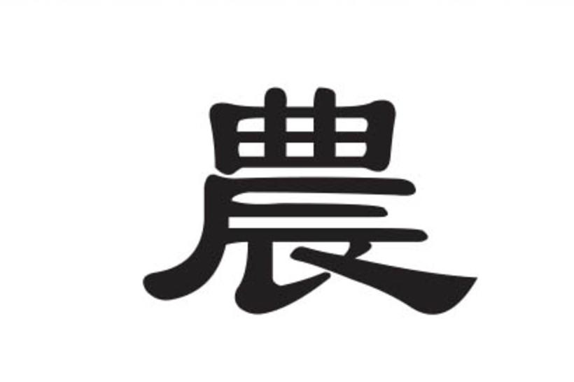 Das Chinesische Schriftzeichen für Ackerbau: 農 (nóng)