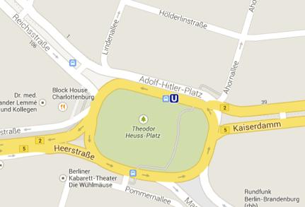 """Google: """"Adolf Hitler Platz"""" auf Deutschlandkarte ein Versehen"""