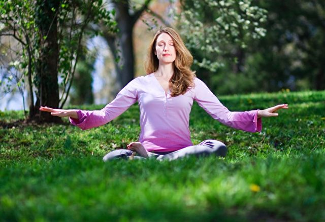 Meditierende von Falun Gong / Falun Dafa