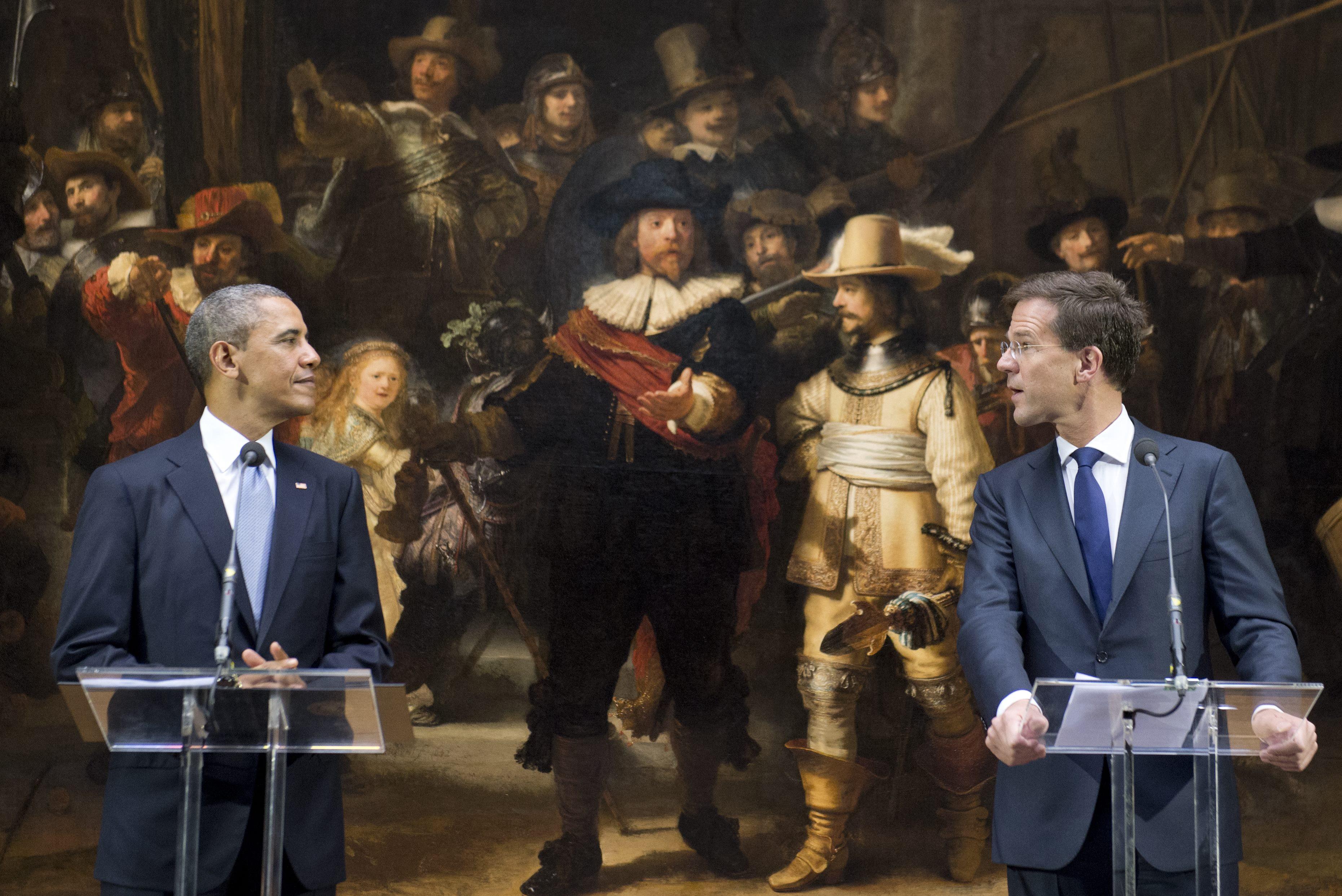"""Amsterdam: Obama besichtigte Rembrandts """"Nachtwache"""""""