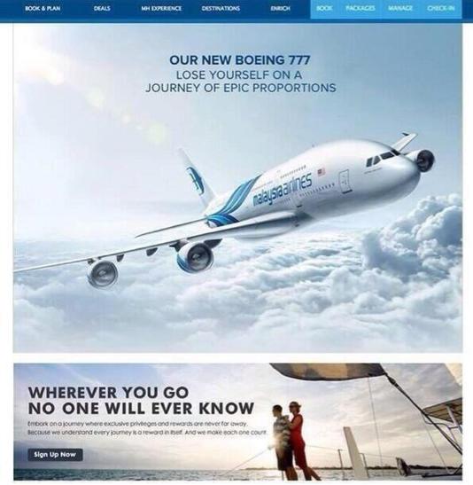 Falsche Malaysia Airlines Werbung zeigt, nicht voreilig alles im Internet zu glauben