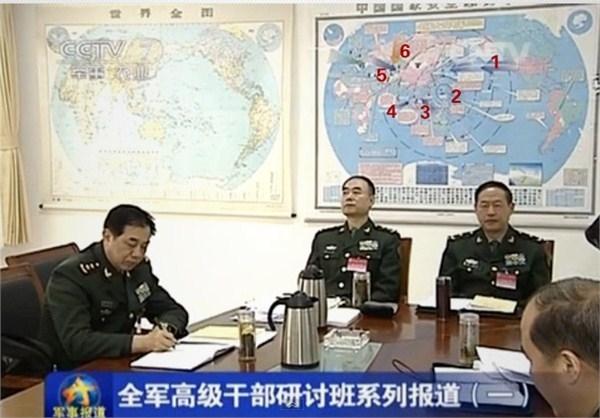 Plant Chinas Militär auf dieser Karte den 3. Weltkrieg?