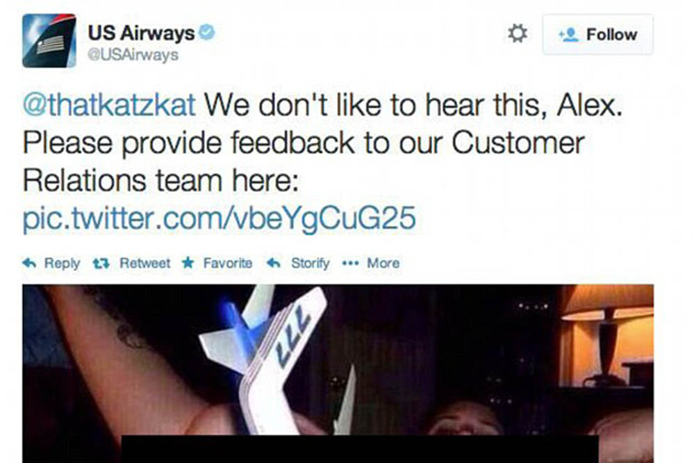 """US Airways Porno-Tweet: """"Niemand wird deshalb gefeuert"""""""