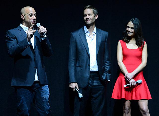 """Schauspieler Vin Diesel und Paul Walker und Schauspielerin Jordana Brewster besuchen eine Universal Pictures Präsentation ihrer kommenden Film zu fördern """"Fast & Furious 6."""