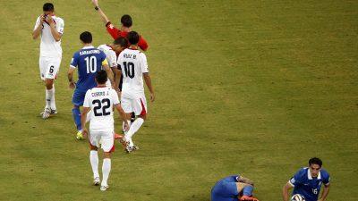 Costa Rica gegen Griechenland: Gelb-Rote Karte für Óscar Duarte von Costa Rica (Video)