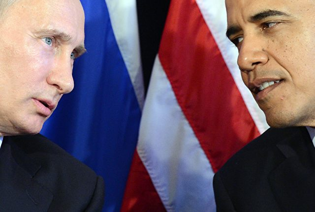 US Präsident Barack Obama (r) und der Russische Präsident Vladimir Putin. Foto: JEWEL SAMAD/Getty Images