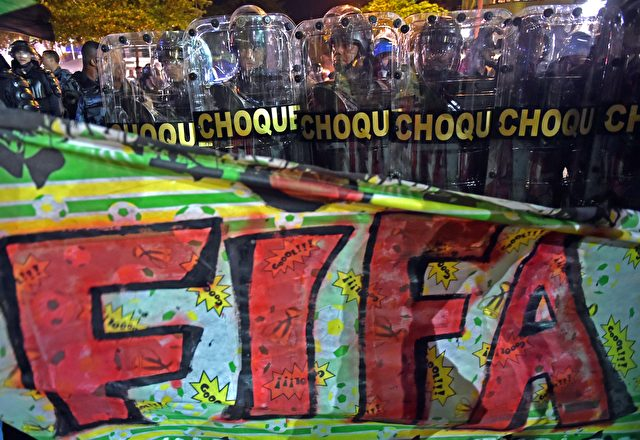 Proteste gegen den FIFA Weltcup 2014