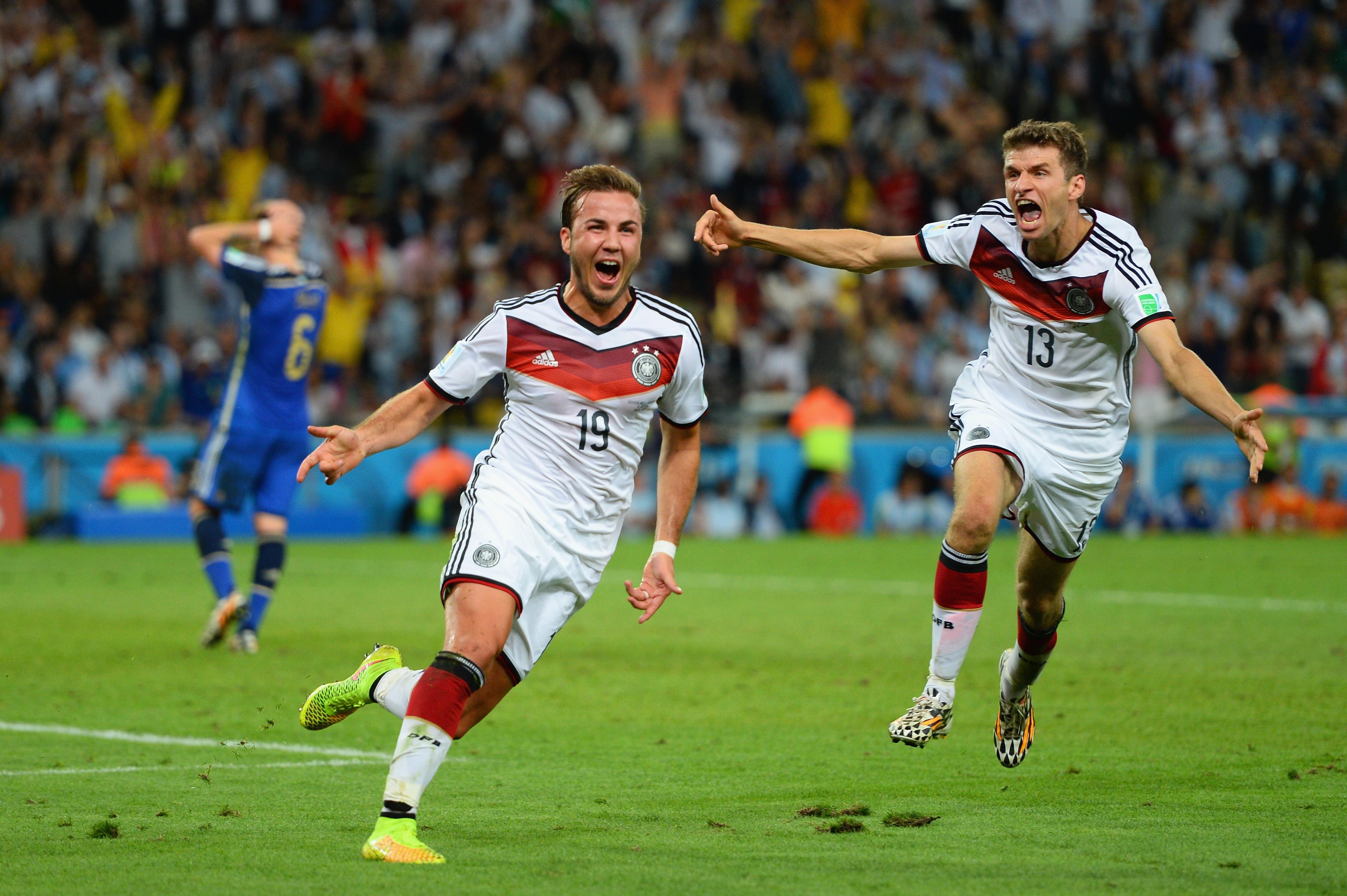 Mario Götze schießt Deutschland gegen Argentinien in die Führung (Video)