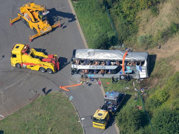 Bergungsarbeit dauert noch an, Fahrspur in die Richtung Chemnitz ist bereits frei.