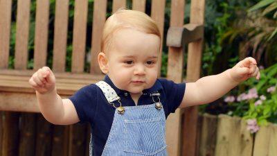Prinz Georges läuft an seinem 1. Geburtstag schon selbst!