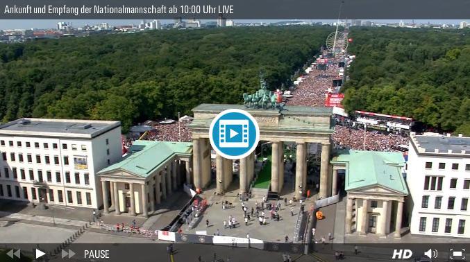 Fanmeile im VIDEO: Hier gibt´s die Weltmeister-Feier für unsere Helden online! UPDATE