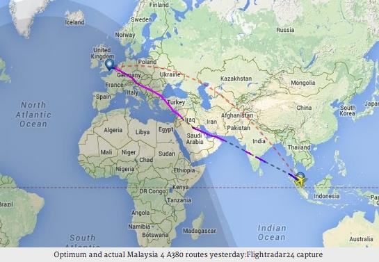 Malaysia Airlines MH 17: Neue Flugroute der Malaysia Airlines führt über Irak und Syrien
