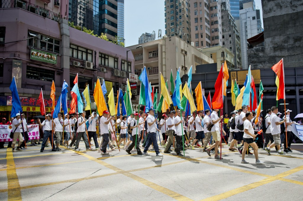 China: Pro-Peking Demonstranten in Hongkong erhielten Bargeld für Teilnahme