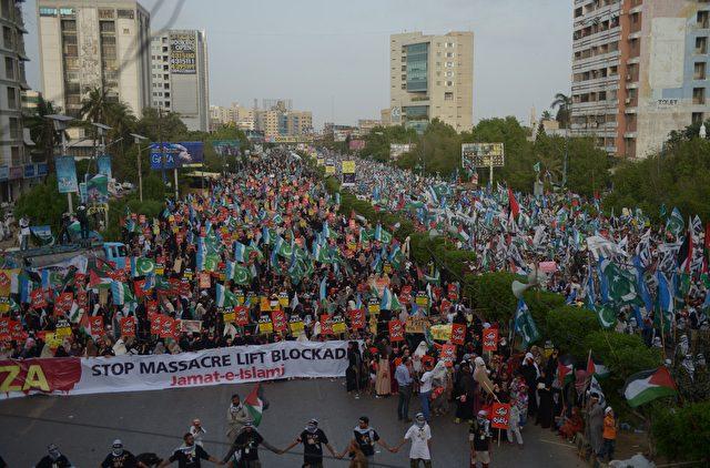 Demonstration in Israel für die Freiheit der Palästinenser