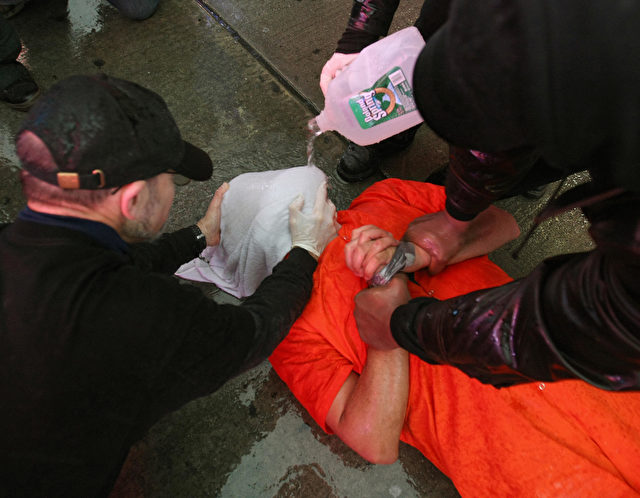Nachgestellte Waterboarding Folterszene Foto: TIMOTHY A. CLARY/Getty Images