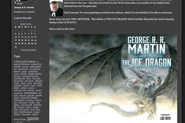 the ice dragon george rr martin
