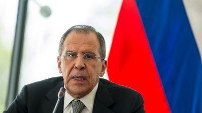 Russland: Lavrov wirft US-Doppelmoral im Kampf gegen den Terrorismus vor