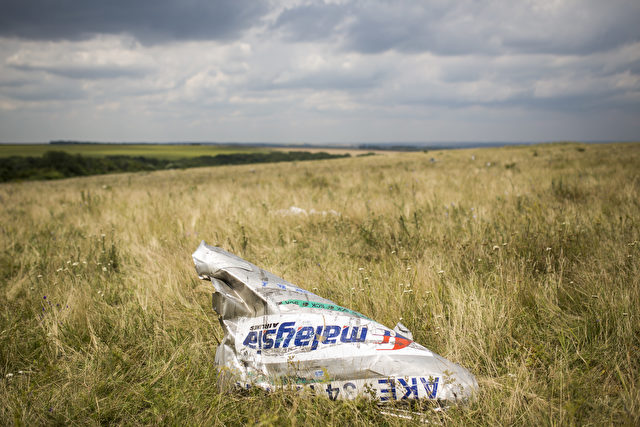 Wrackteile des Malaysia Airlines Flugzeug MH17 Foto: Rob Stothard/Getty Images