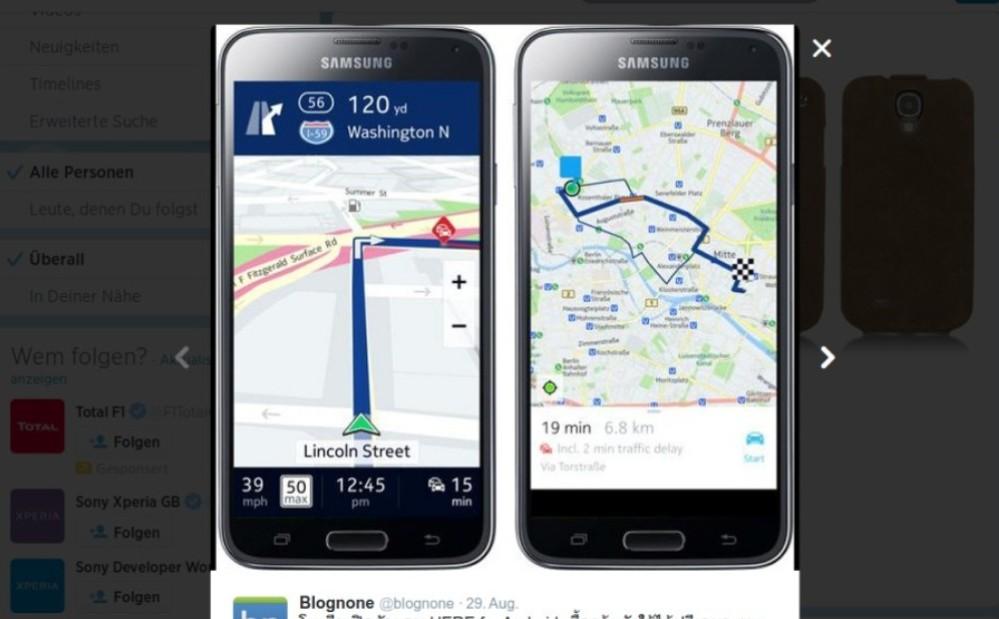 Samsung Galaxy Android und Tizen: Here Kartendienst exklusiv und kostenfei verfügbar