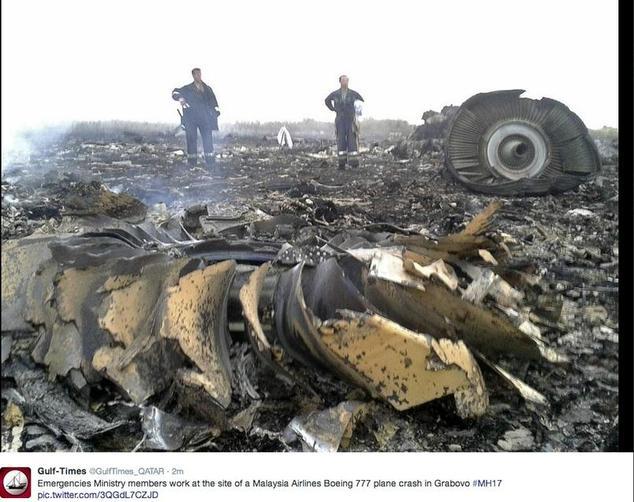 An der MH 17-Absturzstelle war einiges mysteriös. Wird der Untersuchungsbericht darauf eingehen? Foto: Screenshot Twitter