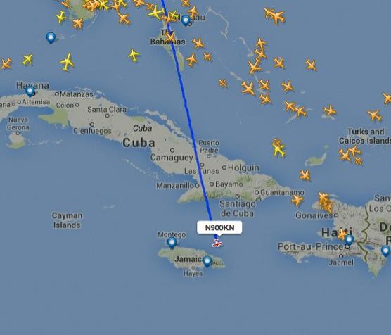 Geisterflugzeug N900KN über Jamaica abgestürzt