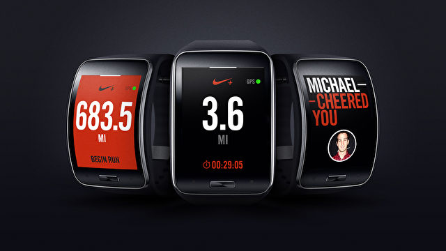 samsung gear s und nike stellen nike running app f r. Black Bedroom Furniture Sets. Home Design Ideas
