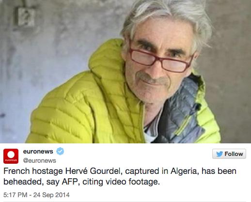 Herve Gourdel-Enthauptungsvideo: ISIS-Jund al-Khilafah enthaupten französischen Tourist in Algerien