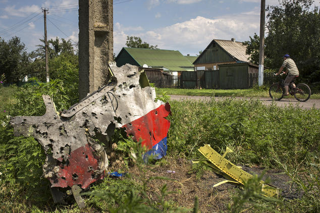 Ein Wrackteil der Malaysia Airlines MH 17. Foto: Rob Stothard /Getty Images
