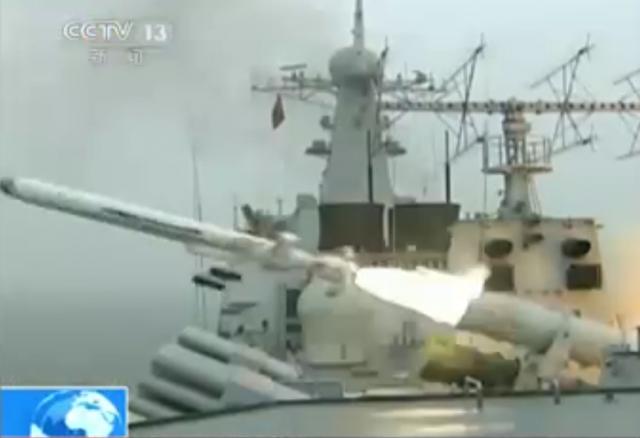Chinas Überschall-Missile CX 1 bei ihrem großen Auftritt im Staatsfernsehen.