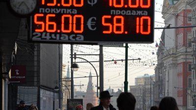 Wie Sanktionen gegen Russland den Verfall des Rubel beschleunigen