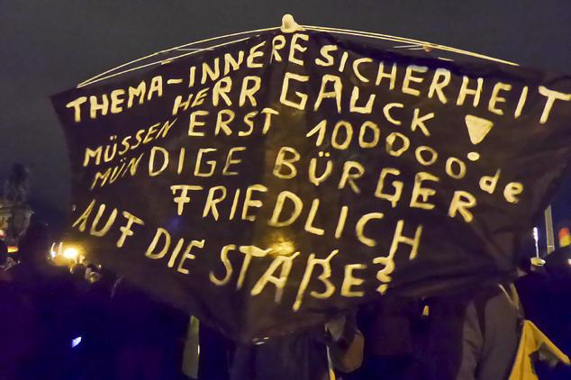 PEGIDA in Dresden am 22.12.2014   Foto: Epoch Times