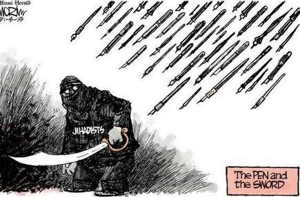 """Zum """"Charlie Hebdo""""-Terror-Attentat: Karikaturisten posten Zeichnungen auf Twitter"""