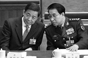Militärchef Xu Caihou (r.) mit Bo Xilai (l.) beim Volkskongress 2012. Mittlerweile sitzen beide im Gefängnis.
