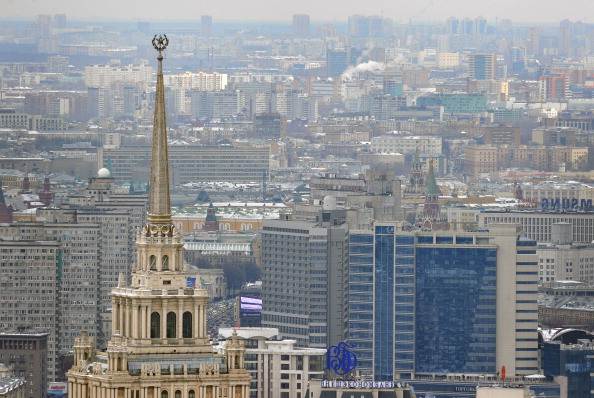 Was hier besprochen wurde, hat es in sich: Das ehemalige Hotel Ukraina war Tagungsort der Moskauer Konferenz zur Internationalen Sicherheit. Foto: ALEXANDER NEMENOV / AFP / Getty
