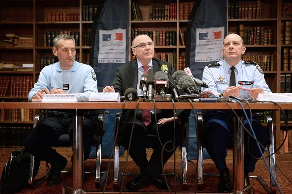 Das Marseiller Ermittler-Team zum Germanwings-Absturz bei einer Pressekonferenz am 2. April. Foto: BORIS HORVAT/AFP/Getty Images