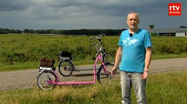 was passiert wenn man ein laufband mit einem fahrrad kombiniert dieser mann aus holland wird. Black Bedroom Furniture Sets. Home Design Ideas